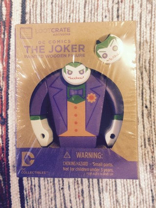 Loot Crate August 2015 Joker Wooden Figure