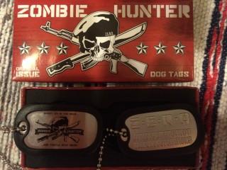Nerd Block October 2015 Zombie Hunter Dog Tags