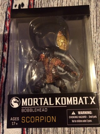Arcade Block January 2016 Mortal Kombat X Scorpion Bobblehead
