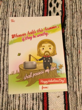 1Up Box January 2016 Valentines Day Card