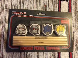 Cosmic Toy Box February 2016 Transformers Eraser Pencil Toppers