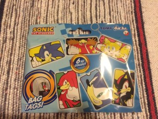 Lootchest March 2016 Sonic The Hedgehog Bag Tags