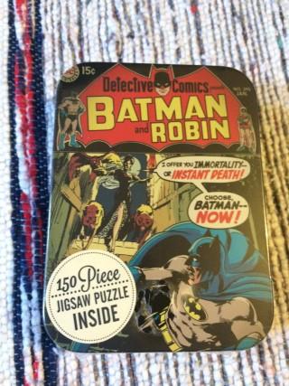 Zavvi ZBox April 2016 Batman And Robin Jigsaw Puzzle Tin