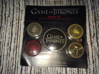 Super Geek Mystery Box April 2016 Game Of Thrones Badges